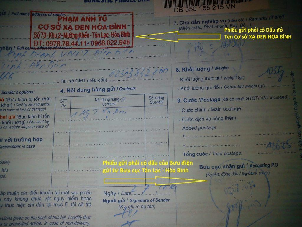 Phiếu gửi Bưu điện