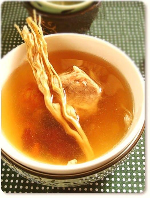 Món súp thịt nạc hoa cau