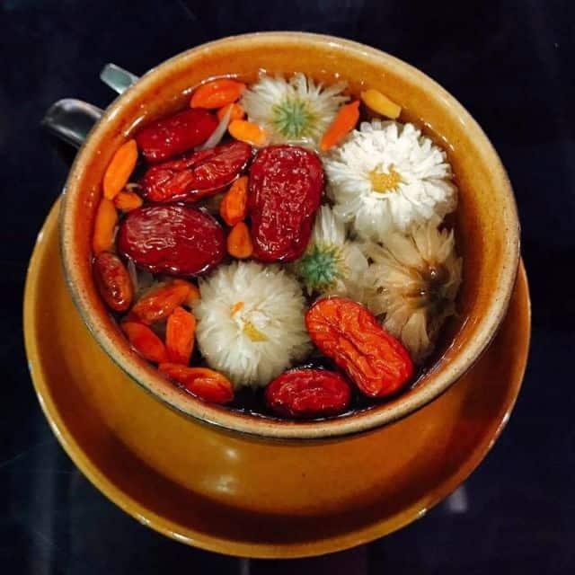 Trà kỷ tử táo đỏ hoa cúc