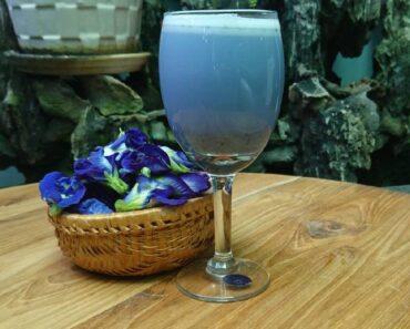 Sinh tố dừa non hoa đậu biếc
